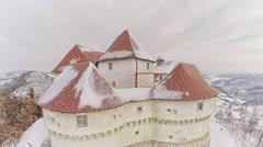 Castle Veliki Tabor in Croatia Stock Footage