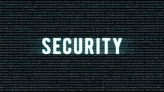 Backgound code with text security - stock footage