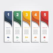 Infographic report template layout. Vector illustration - stock illustration