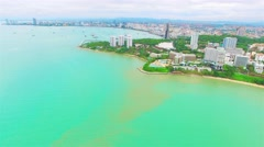 High-angle view. The beach of Thailand. Stock Footage