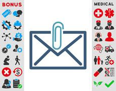 Mail Attachment Icon Stock Illustration
