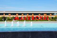 ANTALYA, TURKEY - APRIL 21: The Entrance of Maxx Royal luxury hotel on April Stock Photos