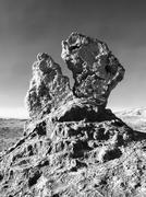 Bizarre rock formation in Moon Valley of Atacama - stock photo