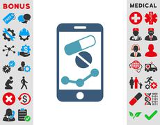Pharmacy Online Report Icon - stock illustration