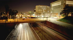 Stock Video Footage of Los Angeles 101 Overpass Time-Lapse