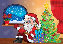 Christmas indoor topic - eps10 vector illustration. - stock illustration
