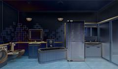 3D rendering of a modern bathroom interior design - stock illustration