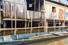 Wooden Shack in Iquitos, Peru Stock Photos