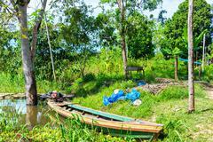 Canoe in the Amazon Stock Photos