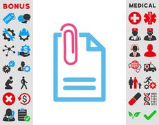Attach Document Icon - stock illustration