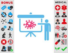 Bacteria Lecture Icon - stock illustration