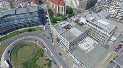 Stock Video Footage of Aerial view of the European GNSS Agency in Prague