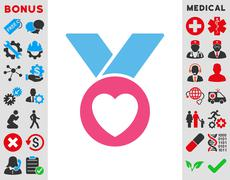Charity Medal Icon - stock illustration