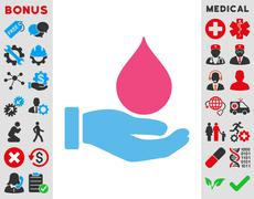 Donate Blood Icon - stock illustration