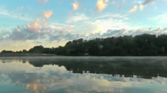 Beautiful Morning at the Lake with Birds Singing Stock Footage