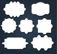 Abstract wavy shape sticker design - stock illustration