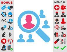Explore Patients Icon Stock Illustration