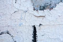 Grunge wall with peeling paint,great background or  texture design Stock Photos