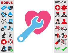 Heart Surgery Icon - stock illustration