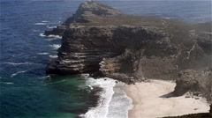 Aerial view of Cape Point, South Africa Stock Footage