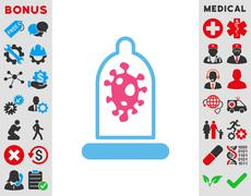 Infection Protection Icon - stock illustration