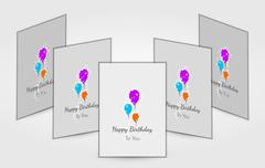 Few birthday cards with balloons Piirros