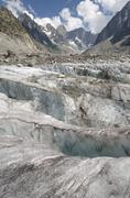 Mer-de-glace glacier and mountains landscape in the french Alps Kuvituskuvat