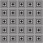 Stock Illustration of Black and White Polka Dot Square Abstract Design Tile Pattern Repeat Backgrou