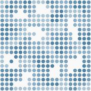 Blue and White Polka Dot Mosaic Abstract Design Tile Pattern Repeat Backgroun Stock Illustration