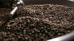 Coffee beans after roasting Stock Footage