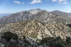 Mt Baldy Summit in Los Angeles County California Stock Photos