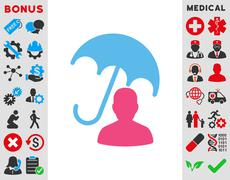 Patient Care Icon Stock Illustration