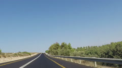 Empty road with right turn Stock Footage