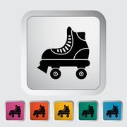 Roller skate - stock illustration