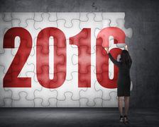 Business Person Assemble 2016 Puzzle Stock Photos