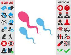 Sperm Icon - stock illustration