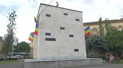 WView of the Anti-Communist Resistance Monument in Cluj-Napoca Stock Footage