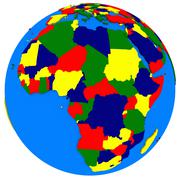 Africa on Earth political map Stock Illustration