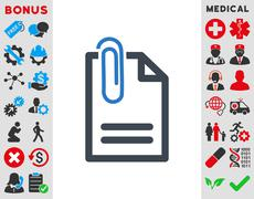 Attach Document Icon Stock Illustration