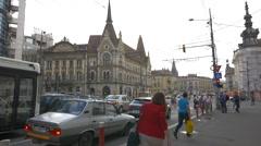 WSzeky Palace in Cluj-Napoca Stock Footage