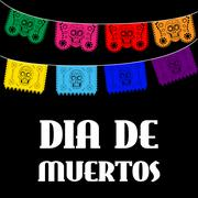 Dia de Muertos - Mexican Day of the death spanish text. decoration - stock illustration