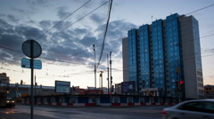 Russia.Moscow - 2015: 4K TL Moscow city life Stock Footage