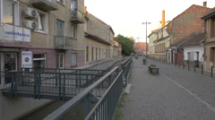 Andrei Saguna Street in Cluj-Napoca Stock Footage