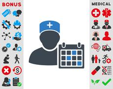 Doctor Appointment Icon Stock Illustration