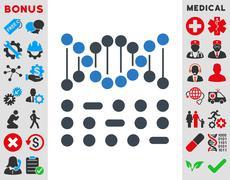 Genetic Code Icon - stock illustration