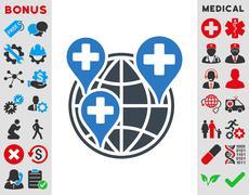 Global Clinic Company Icon Stock Illustration