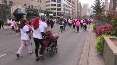 Toronto CIBC run for the cure marathon running event - stock footage