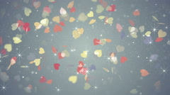 Colorful hearts falling loopable background 4k (4096x2304) Stock Footage