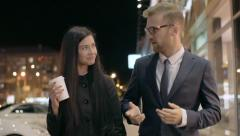 First Date in the City Stock Footage