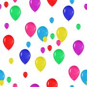 pattern of colorful balloons in the style of realism. to design cards, birthdays - stock illustration